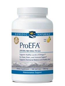 Nordic Naturals ProEFA 1000 mg Soft-Gels, Lemon Flavor, 180 Count