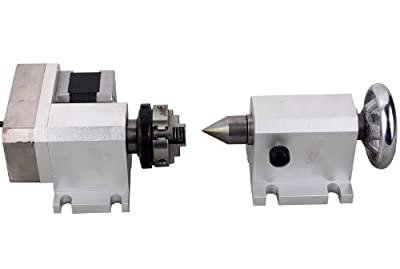 CNC Engraving Machine Router Rotational Rotary Axis F A-Axis 4th-Axis + TailStock
