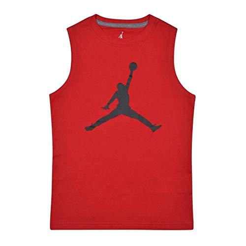 Nike Air Jordan Boys Jumpman Logo Tank Top Shirt (Gym Red, Large)