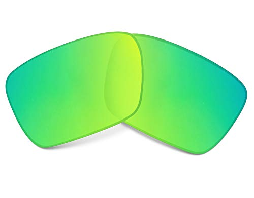 Replacement Lenses Compatible with OAKLEY Fuel Cell Polarized Green Mirror ()