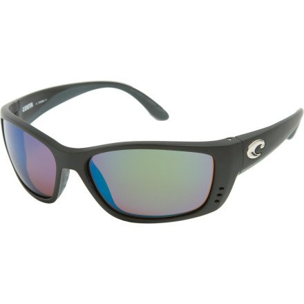 Costa Del Mar Fisch Matte Black Frame/Green Mirror Polarized Lens - Optical Costa Frames