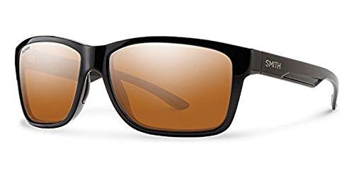 (Smith Drake Sunglasses Black/Techlite Glass Polarchromic Copper Mirror & HDO Cleaning Carekit Bundle)
