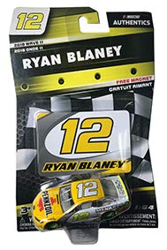 NASCAR Authentics Ryan Blaney #12 Diecast Car 1/64 Scale - 2018 Wave 11 with Die Cast Magnet - Collectible]()