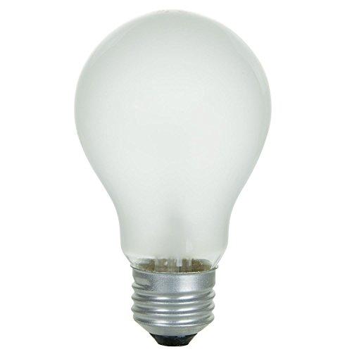 Sunlite 100 Watt A19 Rough Service Light Bulb, Medium Base, Frost, 2 Pack ()