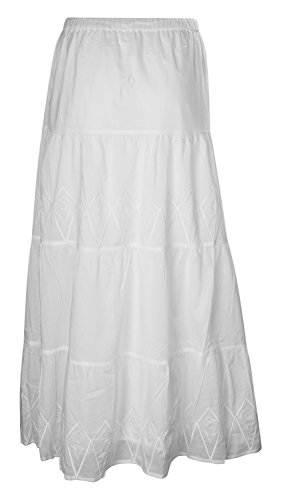 Nille Philbert Damen Rock White Lou Skirt SS09-16-02-WHT