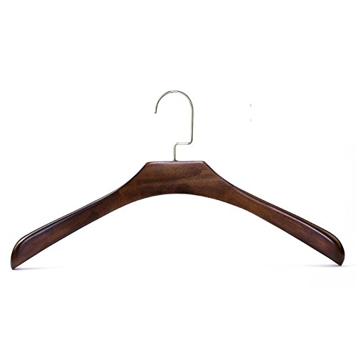 solid wood coat hanger/vintage hanger pack of 10-B by LWZY Hangers
