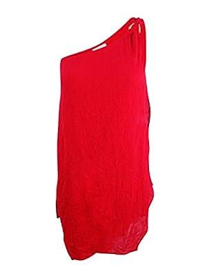 MICHAEL Michael Kors Womens Sunny Island One Shoulder Draped Dress Cover-up