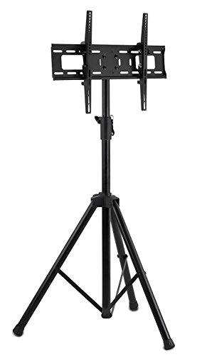 Mount-It! LCD Flat Panel TV Tripod, Portable TV Stand Fits LCD LED Flat Screen TV sizes 32-70 inch, Adjustable Height Pole, Supports up to 77 lbs and VESA 600x400 (MI-874), Black,  Photo #2