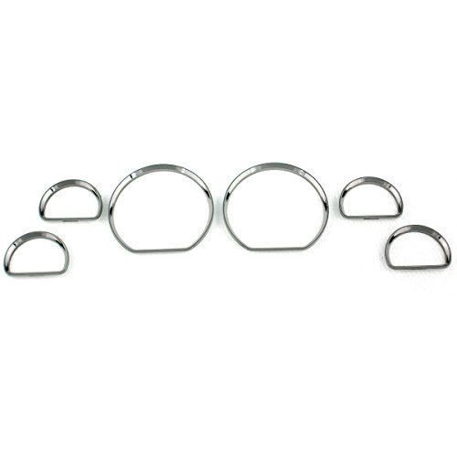 BAR Autotech  Chrome Gauge Cluster Dashboard Bezel Ring for FORD Mustang ()