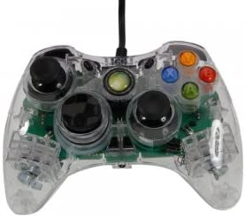 Wired Controller with LED for Xbox 360 Transparent White: Amazon.es: Electrónica