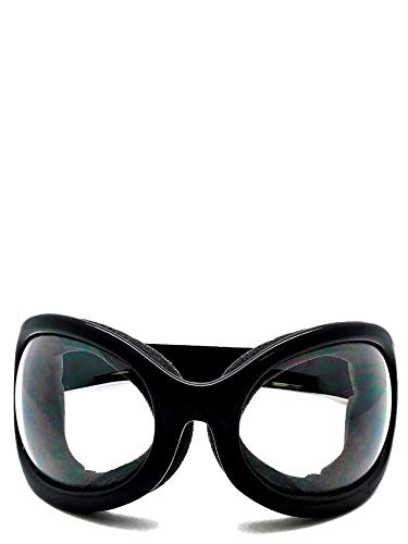 Extreme Weather Dust Goggles - Perfect for Burning Man, Motorcycles, Sports, Festivals - Convertible to Sunglasses - Black with Clear UV Lens - Sport Fashion and Style