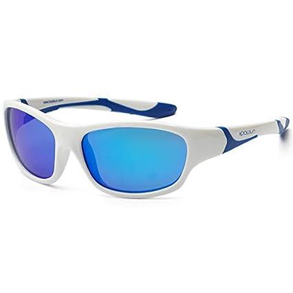 bbc8840466957e Koolsun Lunettes de soleil SPORT Enfant 3–6 ans   White   Blue + Blue
