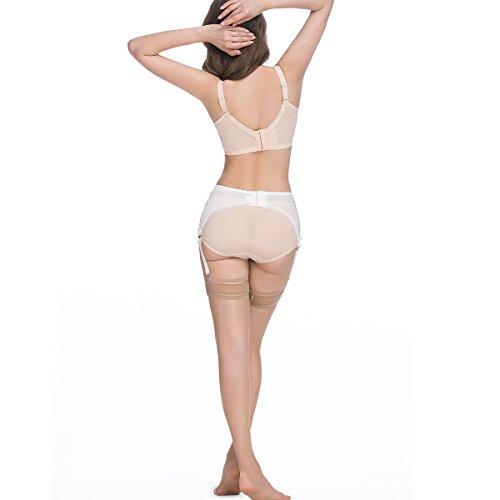 e315b0bd0fd LIXFDT Women s Vintage Garter Belt 6 Straps Metal Clip Suspender Belt for  Stocking