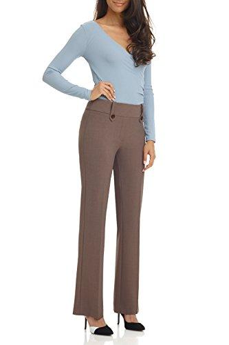Rekucci Women's Smart Desk to Dinner Stretch Bootcut Pant w/Tummy Control (18,Mocha)