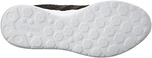 adidas Womens Lite Racer w Running Shoe, Merlot F15/Merlot F15/White, 9 M US Black/White
