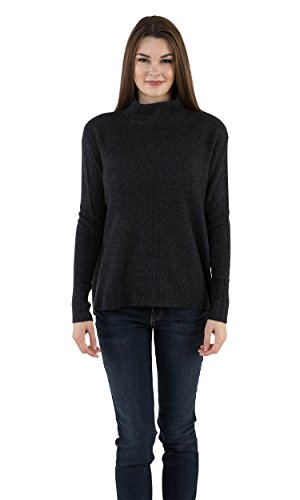 (Velvet by Graham & Spencer Rosa Lurex Mock Neck Cashmere Sweater (M) )