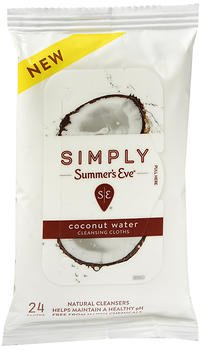 Simply Summer's Eve Cleansing Cloths Coconut Water - 24 ct, Pack of 3