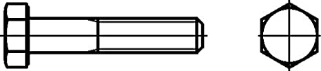 Vis hexagonales avec la tige 8,8, MS, filetage DIN 931, 0/0202/001/10,0/50/ /01 Dresselhaus GmbH & Co. KG 0/0202/001/  10 0/   50/     /01
