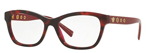 Versace Women's VE3225 Eyeglasses Havana/Bordeaux 54mm