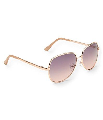 Aeropostale Womens Square Aviator Sunglasses