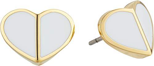 Kate Spade New York Women's Heritage Spade Heart Stud Earrings, White, One...