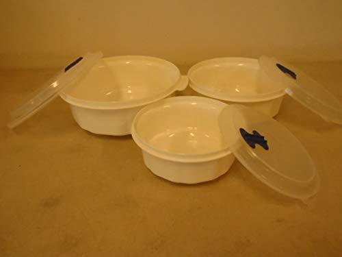 (Cuisine Magic Microwave Octagon 3-Piece Cooker Set with Semi-Transparent Lid)