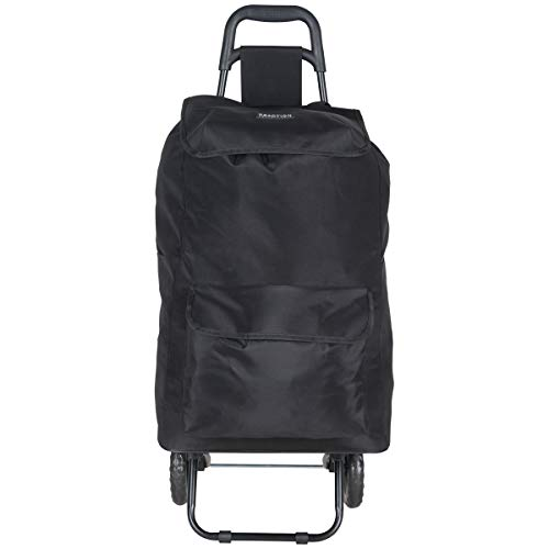 Kenneth Cole Reaction Polyester 2-Wheel Urban Shopping Cart with Removable Shopping Bag, ()