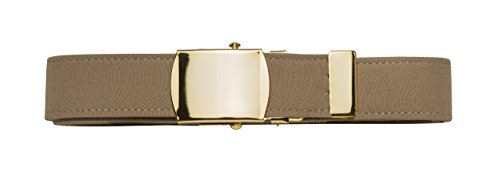 Us Navy Khaki (US Navy Khaki Belt with Brass Buckle (Male))
