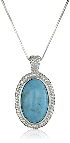 Sterling Genuine Stabilized Turquoise Necklace