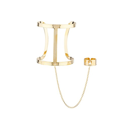 Lux Accessories Caged Cuff Hand Chain link from Lux Accessories