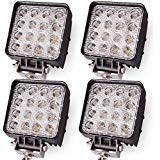 - Oplips 4Pack 48W 4 inch Square LED Work Light Lamp Off Road High Power ATV Jeep Wrangler 4x4 Rv Trailer Boat Tractor Truck Excavator Fork Lift Camping Boat Tractor (4 x 48w Work Light)