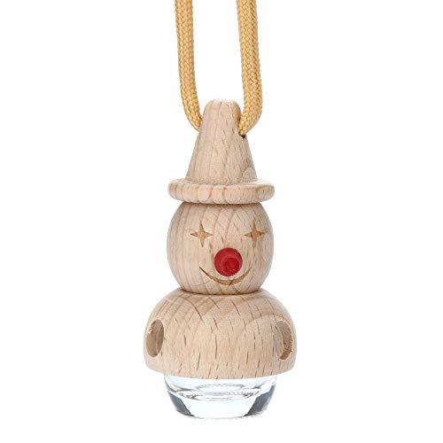 Gotian Car 6ml Glass Wood Perfume Bottle for Air Fresheners Auto Car Styling Ornament Perfume Pendant (D)