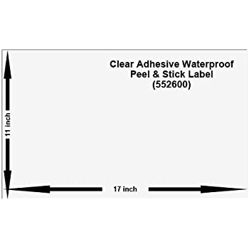 Amazon Com 11x17 Peel And Stick Labels Pack Of 10