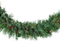 Balsam Hill Beacon Hill Cypress Outdoor Wreath and Garland