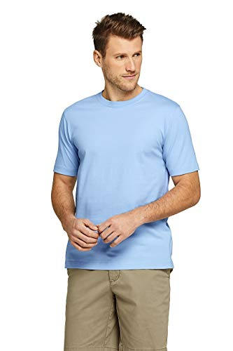 Lands' End Men's Short Sleeve Super-T, S, Oxford Blue
