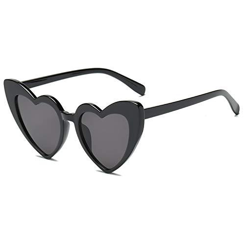 Heart-Shaped Sunglasses Women Vintga Black Pink Red Heart Shape Sun Glasses (C1)