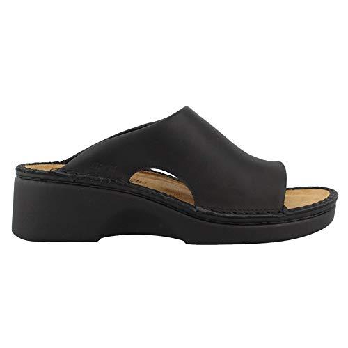 Naot Women's Rome Wedge Sandal, Black, 39 EU/8 M US