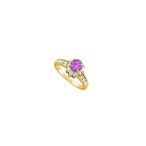Gorgeous Amethyst and CZ Engagement Ring 2.00 TGW