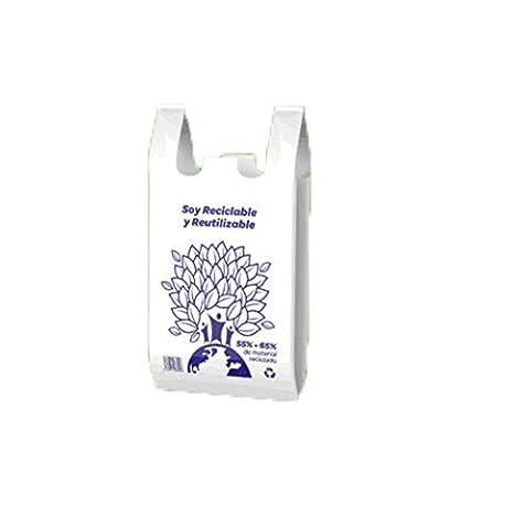 PLASBEL Bolsa Camiseta Reutilizable desechable Greenatur ...