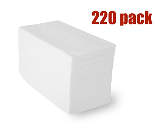 Linen-Feel Guest Towels (220 Pack) , White Disposable Cloth-Like Paper Hand Napkins, 12
