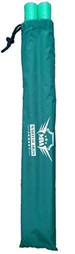 Martial Arts Armory Foam Padded Training Escrima Sticks with Case (Green)