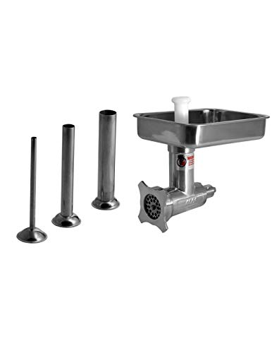 Size 12 Meat Grinder Attachment for Hobart A200 D300 A200t H600 A120 Mixer Plus Three Sausage Stuffer Tubes Stainless Steel by Alfa