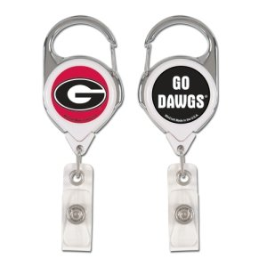NCAA Georgia Bulldogs Retractable Premium Badge Holder, Team Color, One - Outlets Premium Georgia