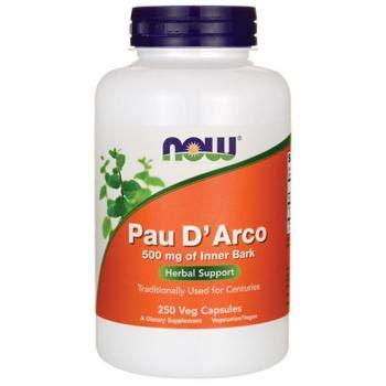 Pau D Arco, 500 mg, 250 cápsulas - Now Foods: Amazon.es: Salud y cuidado personal
