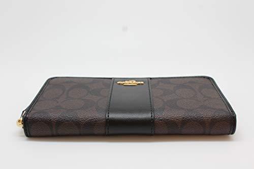 quality design 3dd5a a2972 Coach F54630 Signature PVC Leather Accordion Zip Wallet ...