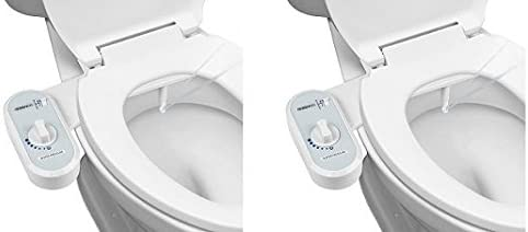 Greenco Bidet Fresh Water Spray Non Electric Mechanical Bidet Toilet Seat Attachment 2 Pack Amazon Com