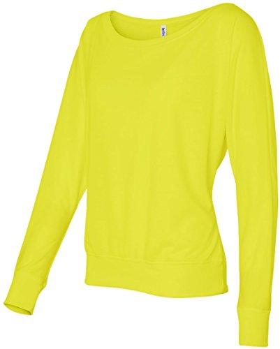 Traje de neopreno para mujer Bella 3,7 G. Long-con cierre de solapa y nivel de interrogatorio para el hombro T-camiseta de manga corta Off Gelb - Neon Gelb