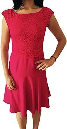 Women Red Elegant Summer Dress