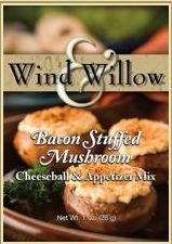 Wind & Willow Bacon Stuffed Mushroom Cheeseball Mix (4 Pack) by Wind & Willow