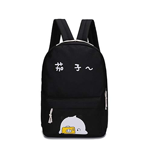 Bags set Preppy Girls Black 5pcs Letter Diamondo Print Handbag Backpack Fashion Shoulder 4AqwnO